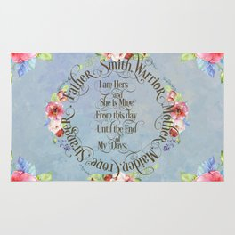 I am hers and she is mine. GOT Wedding Vows Rug