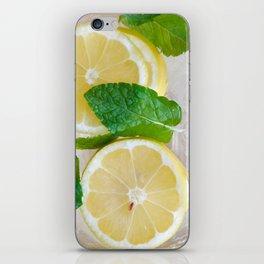 Lemon Mint Cooler iPhone Skin