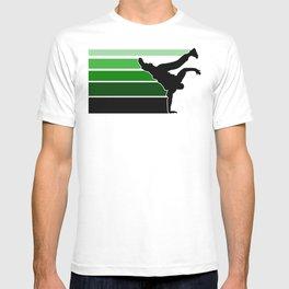 Break lines green T-shirt