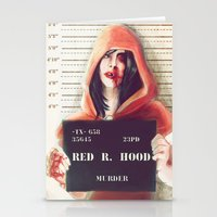 red riding hood Stationery Cards featuring Red Riding Hood by adroverart