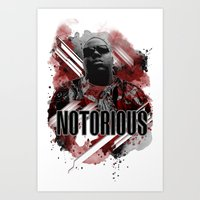 notorious big Art Prints featuring Notorious by Skye
