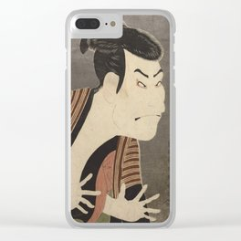 Famous Japanes Art: Tōshūsai Sharaku - Print of Ōtani Oniji III in the Role of the Servant Edobei Clear iPhone Case