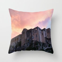 Tropea In Calabria At Sunset Throw Pillow