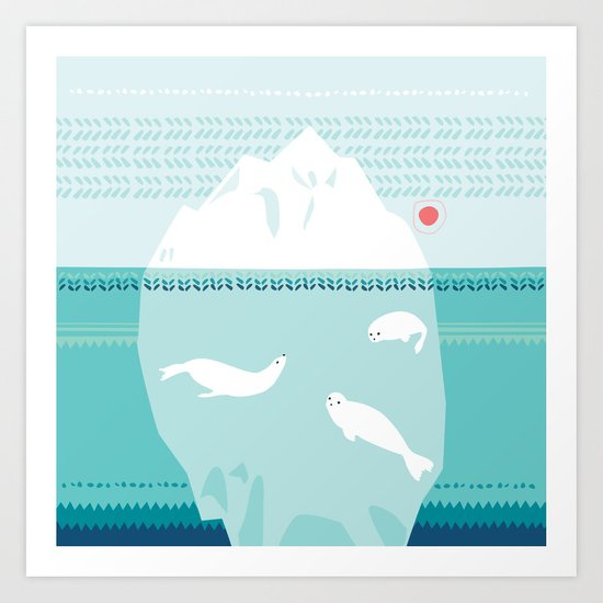 The Ice Lovers Art Print