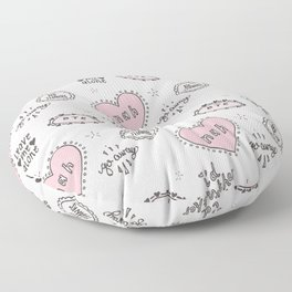 anti-valentines Floor Pillow