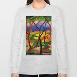 """Franz Marc """"Weasels At Play"""" Long Sleeve T-shirt"""
