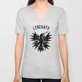 phoenix liberate crest x typography Unisex V-Neck