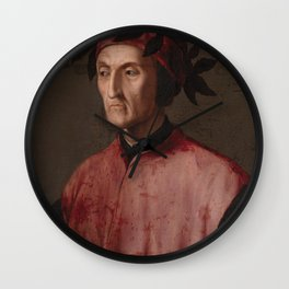 Portrait of the poet Dante Wall Clock