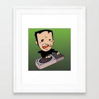 dj Framed Art Prints featuring DJ by Grime Lab