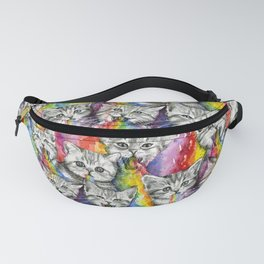 Kittens Puking Rainbows Pattern Fanny Pack