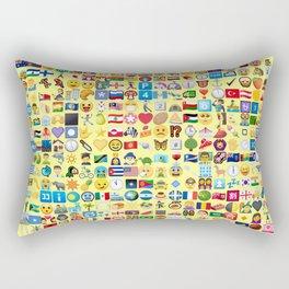 Emoji Madness Rectangular Pillow