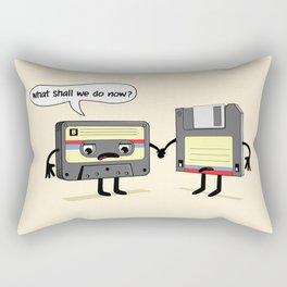 The Obsoletes (Retro Floppy Disk Cassette Tape) Rectangular Pillow
