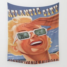 Vintage poster - Atlantic City Wall Tapestry