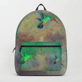 Secret Escape Hummingbird Design Backpack