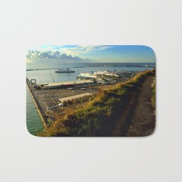 Dover Docks from the White Cliffs Bath Mat