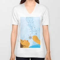 coconut wishes V-neck T-shirts featuring Wishes by Lacey Jae