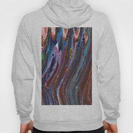 Fluid Acrylic VII - Original, textured, painting Hoody