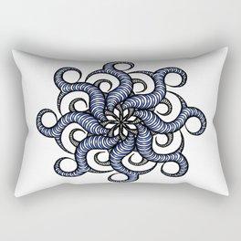 Reverse in blue Rectangular Pillow