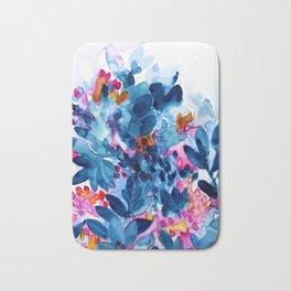 Flower garden watercolor Bath Mat