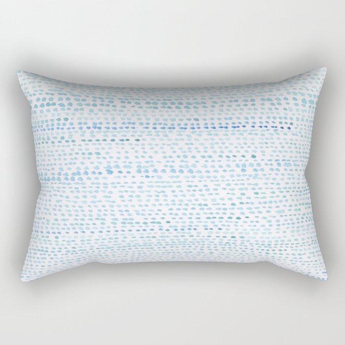 BLUE/GREEN DOTTED PATTERN  Rectangular Pillow