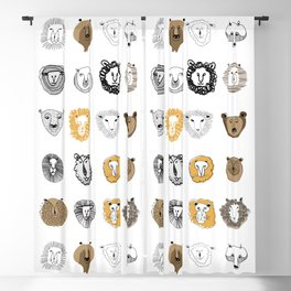 Bear, Sheep, Lion Blackout Curtain