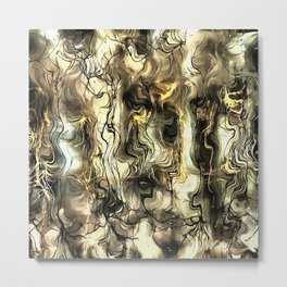 Nervous Tension Metal Print