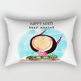 Keep Moving Rectangular Pillow
