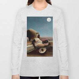 "Henri Rousseau The Sleeping Gypsy"", 1897 Long Sleeve T-shirt"