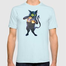 Ryan & Molly's Cat: Harry Mens Fitted Tee Light Blue SMALL
