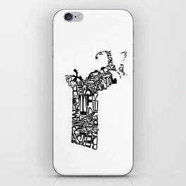 Typographic Massachusetts iPhone Skin