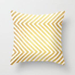 Gold and marble art VII Throw Pillow