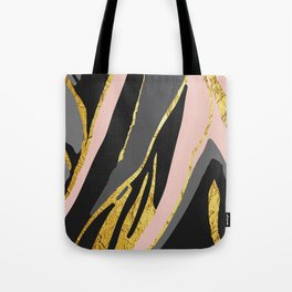 Gold and pale river Tote Bag