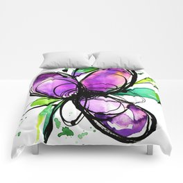 Ecstasy Bloom 10 by Kathy Morton Stanion Comforters