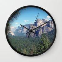 yosemite Wall Clocks featuring YOSEMITE  by Melissa Whitman