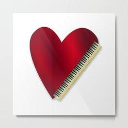Love Playing Piano Metal Print