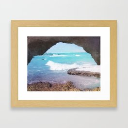 Sea Cave Framed Art Print