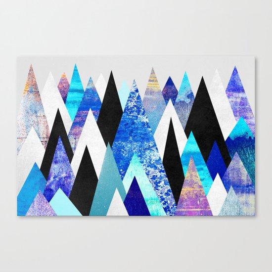 Blue Peaks Canvas Print