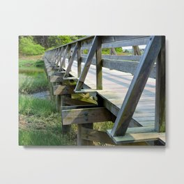 Uncle Tim's Bridge from the Side Metal Print