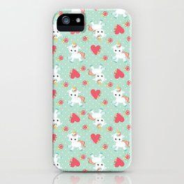 Baby Unicorn with Hearts iPhone Case