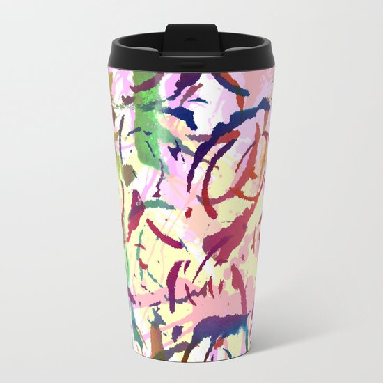 abstract roses silhouettes Travel Mug