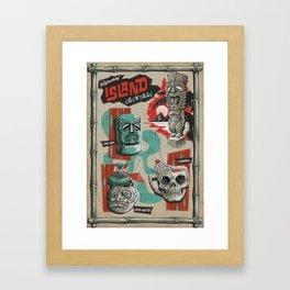 REFRESHING ISLAND COCKTAILS  Framed Art Print