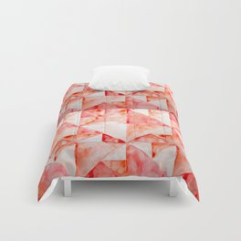 Red Triangles Comforters
