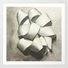 Ribbon - Graphite Illustration Art Print