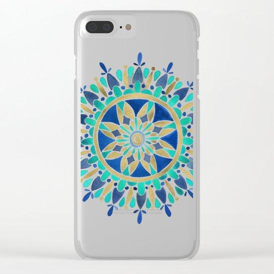 Mandala – Gold & Turquoise Clear iPhone Case