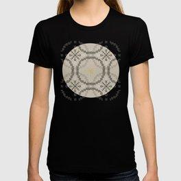 Stitched Bubbles Beige T-shirt