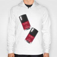 nail polish Hoodies featuring Nail Polish Rouge Rubis by BeckiBoos