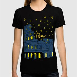 Rome Italy Colosseum Starry night T-shirt