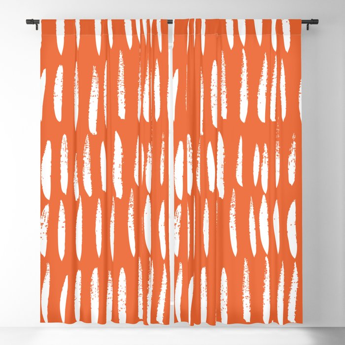 Brush Stroke Staccato Blackout Curtain
