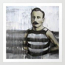 Mustacheo - by Jay Turner Art Print
