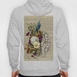 medical floral brain Hoody